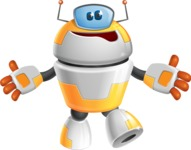 Cool Robot from Future Cartoon Vector Character AKA Spud - Sorry