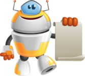 Cool Robot from Future Cartoon Vector Character AKA Spud - Sign 1