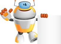 Cool Robot from Future Cartoon Vector Character AKA Spud - Sign 6