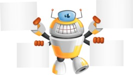 Cool Robot from Future Cartoon Vector Character AKA Spud - Sign 8