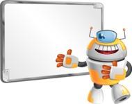 Cool Robot from Future Cartoon Vector Character AKA Spud - Presentation 1