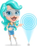 Smart Technology Future Girl Cartoon Vector Character AKA Neonna - Target
