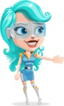 Smart Technology Future Girl Cartoon Vector Character AKA Neonna - Show 1
