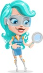 Smart Technology Future Girl Cartoon Vector Character AKA Neonna - Search