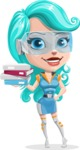Smart Technology Future Girl Cartoon Vector Character AKA Neonna - Books