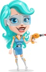 Smart Technology Future Girl Cartoon Vector Character AKA Neonna - Weapon