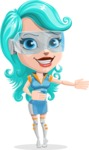Smart Technology Future Girl Cartoon Vector Character AKA Neonna - Show 2