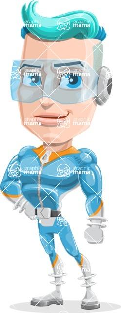 Space Man Astronaut Cartoon Vector Character AKA Lexo - Normal