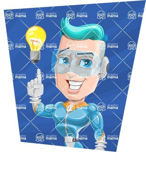 Space Man Astronaut Cartoon Vector Character AKA Lexo - Shape 4
