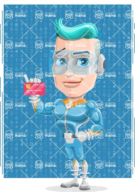 Space Man Astronaut Cartoon Vector Character AKA Lexo - Shape 10