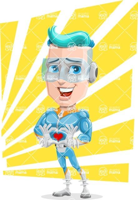 Space Man Astronaut Cartoon Vector Character AKA Lexo - Shape 12