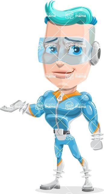 Space Man Astronaut Cartoon Vector Character AKA Lexo - Sorry