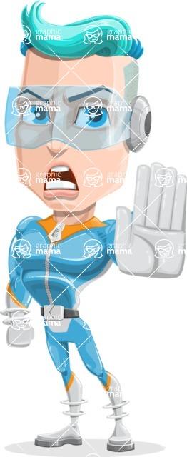 Space Man Astronaut Cartoon Vector Character AKA Lexo - Stop 2
