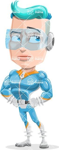 Space Man Astronaut Cartoon Vector Character AKA Lexo - Roll Eyes