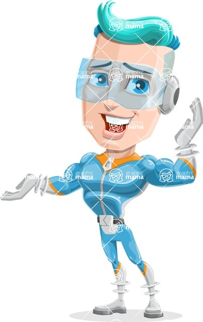 Space Man Astronaut Cartoon Vector Character AKA Lexo - Oops