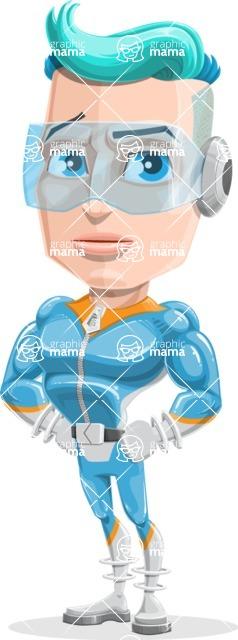 Space Man Astronaut Cartoon Vector Character AKA Lexo - Patient