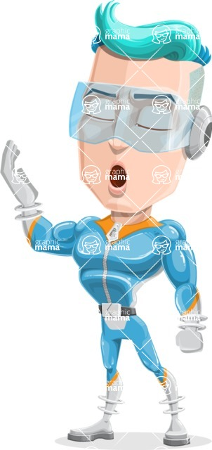Space Man Astronaut Cartoon Vector Character AKA Lexo - Bored 2