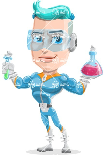 Space Man Astronaut Cartoon Vector Character AKA Lexo - Science