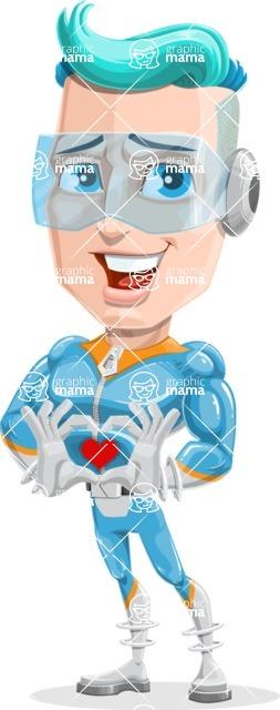 Space Man Astronaut Cartoon Vector Character AKA Lexo - Show Love