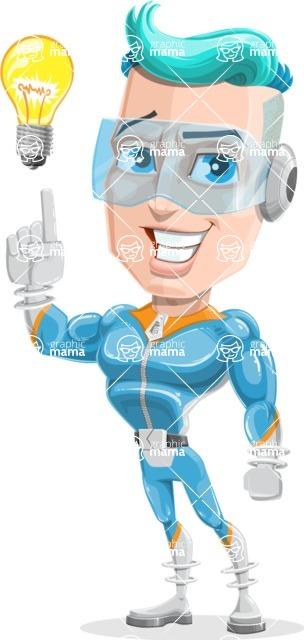 Space Man Astronaut Cartoon Vector Character AKA Lexo - Idea