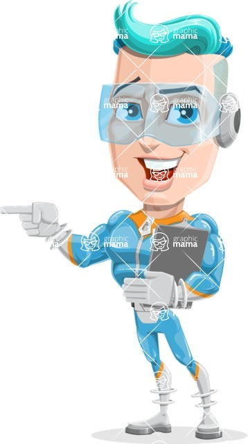 Space Man Astronaut Cartoon Vector Character AKA Lexo - Notepad 1