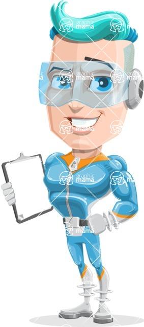 Space Man Astronaut Cartoon Vector Character AKA Lexo - Notepad 2