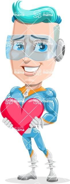 Space Man Astronaut Cartoon Vector Character AKA Lexo - Love