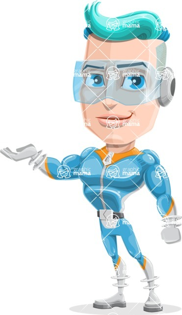 Space Man Astronaut Cartoon Vector Character AKA Lexo - Showcase 1