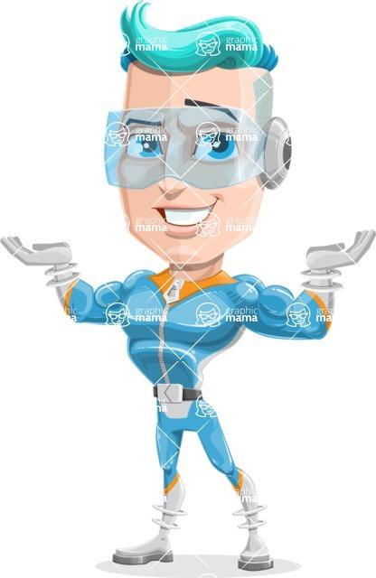 Space Man Astronaut Cartoon Vector Character AKA Lexo - Showcase 2