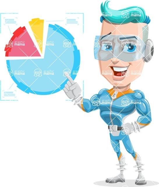 Space Man Astronaut Cartoon Vector Character AKA Lexo - Chart