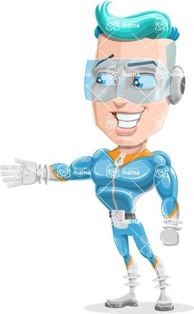 Space Man Astronaut Cartoon Vector Character AKA Lexo - Show 1