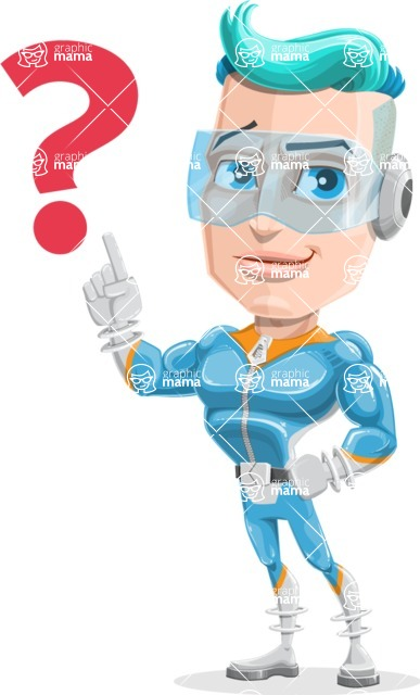 Space Man Astronaut Cartoon Vector Character AKA Lexo - Question