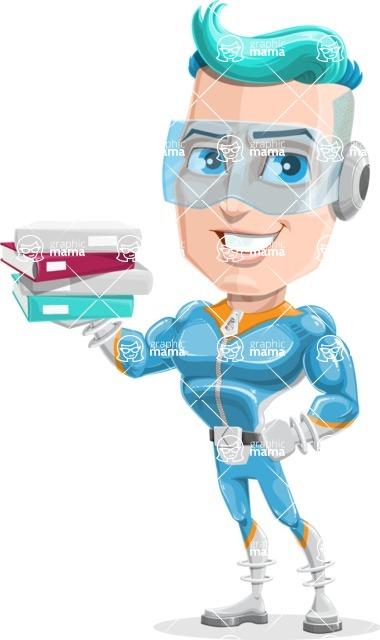 Space Man Astronaut Cartoon Vector Character AKA Lexo - Books