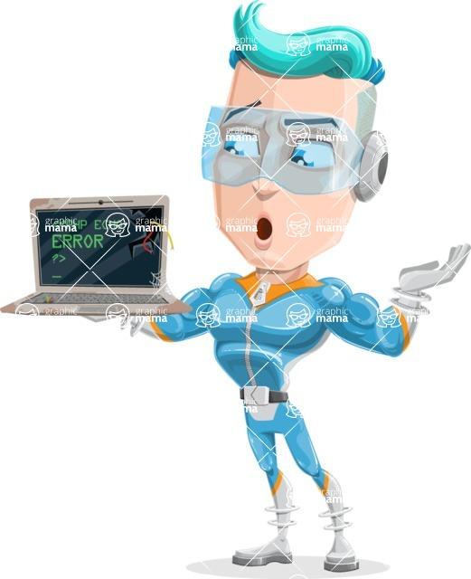 Space Man Astronaut Cartoon Vector Character AKA Lexo - Old Technologies