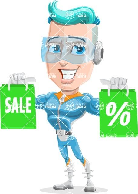 Space Man Astronaut Cartoon Vector Character AKA Lexo - Sale 1