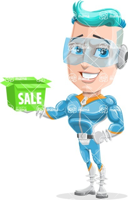 Space Man Astronaut Cartoon Vector Character AKA Lexo - Sale 2
