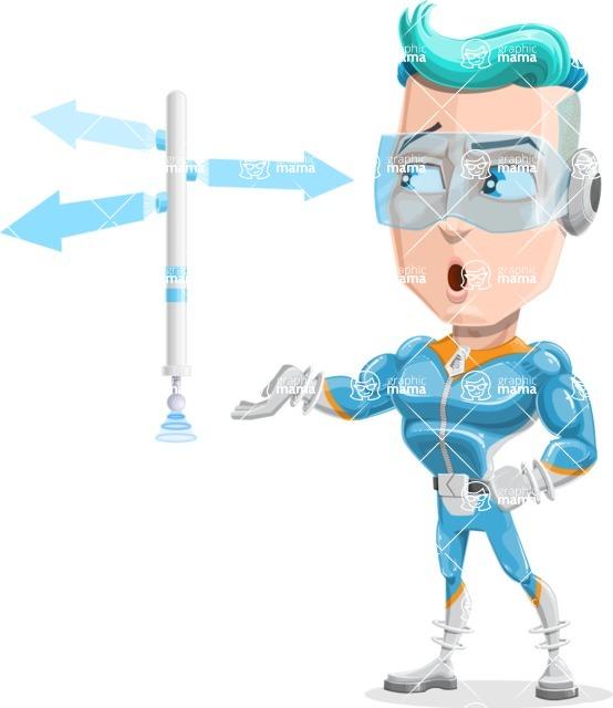 Space Man Astronaut Cartoon Vector Character AKA Lexo - Crossroad