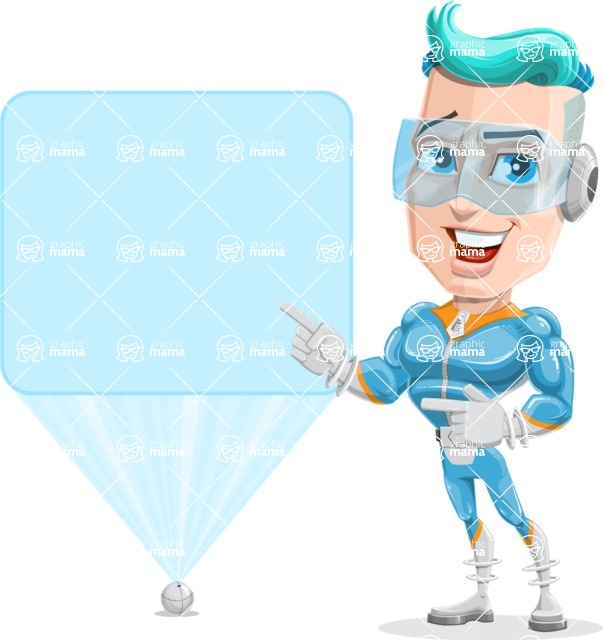 Space Man Astronaut Cartoon Vector Character AKA Lexo - Sign 5