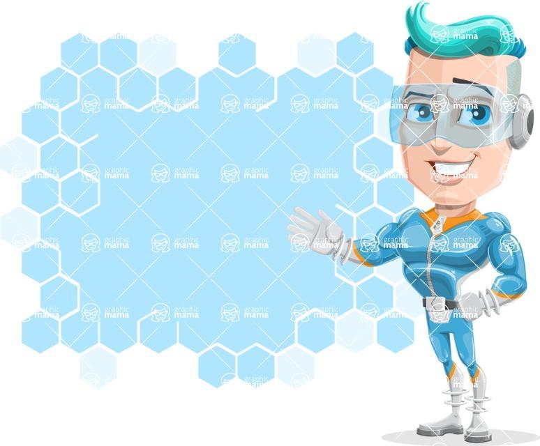 Space Man Astronaut Cartoon Vector Character AKA Lexo - Presentation 1