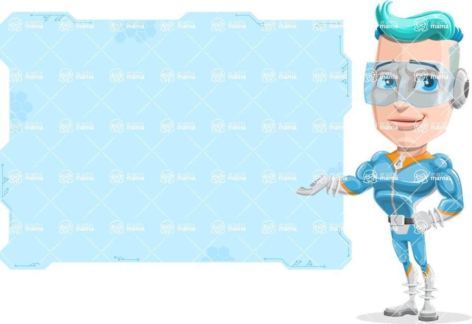 Space Man Astronaut Cartoon Vector Character AKA Lexo - Presentation 2
