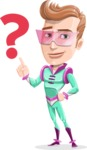 Man from the Future Cartoon Vector Character AKA Brice - Question