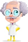 Professor Cartoon Character АКА Earl Crazy-Curls - Rolling Eyes