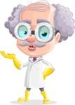 Professor Cartoon Character АКА Earl Crazy-Curls - Giving a Kiss