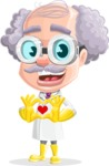 Professor Cartoon Character АКА Earl Crazy-Curls - Showing Love