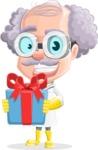 Professor Cartoon Character АКА Earl Crazy-Curls - With Gift Box
