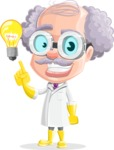 Professor Cartoon Character АКА Earl Crazy-Curls - With an Idea