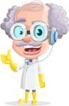 Professor Cartoon Character АКА Earl Crazy-Curls - Talking with Headphones