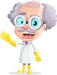Professor Cartoon Character АКА Earl Crazy-Curls - Waving