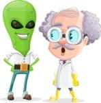 Professor Earl Crazy-Curls  - Alien