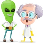 Professor Cartoon Character АКА Earl Crazy-Curls - Meeting an Alien